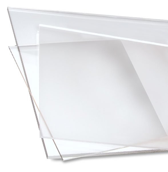 12 x 12 - Clear Acrylic Plexiglass Sheet - 1/4'' Thick Cast