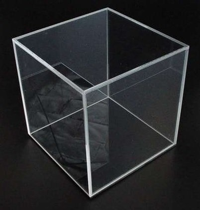 8.5 W x 8.5 D x 8 1/4 H - Clear 4 sided Acrylic Box
