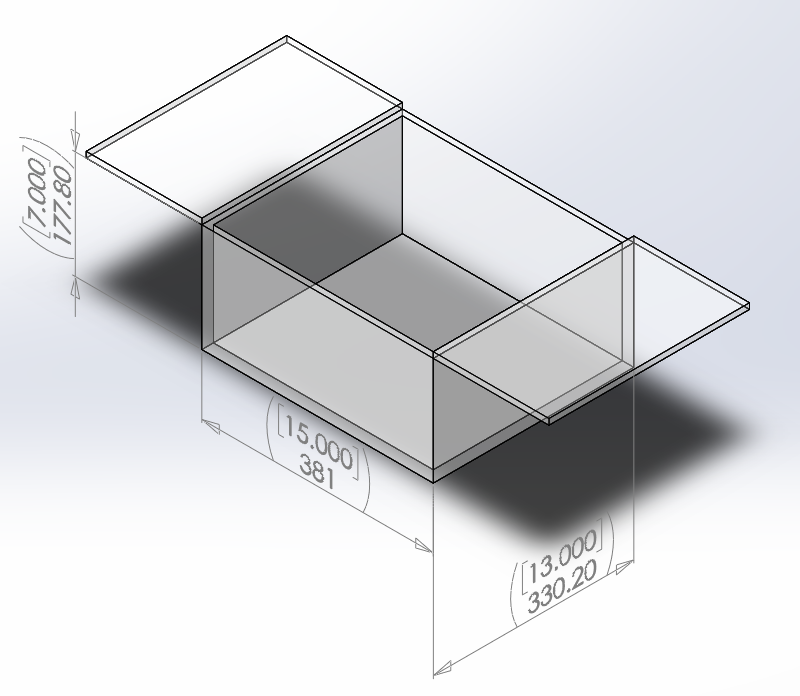 Clear Acrylic Box Hinged Top - 3/8 Thick - 15x13x7