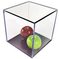 Custom Made Acrylic Box 16x18x8 with Black Base