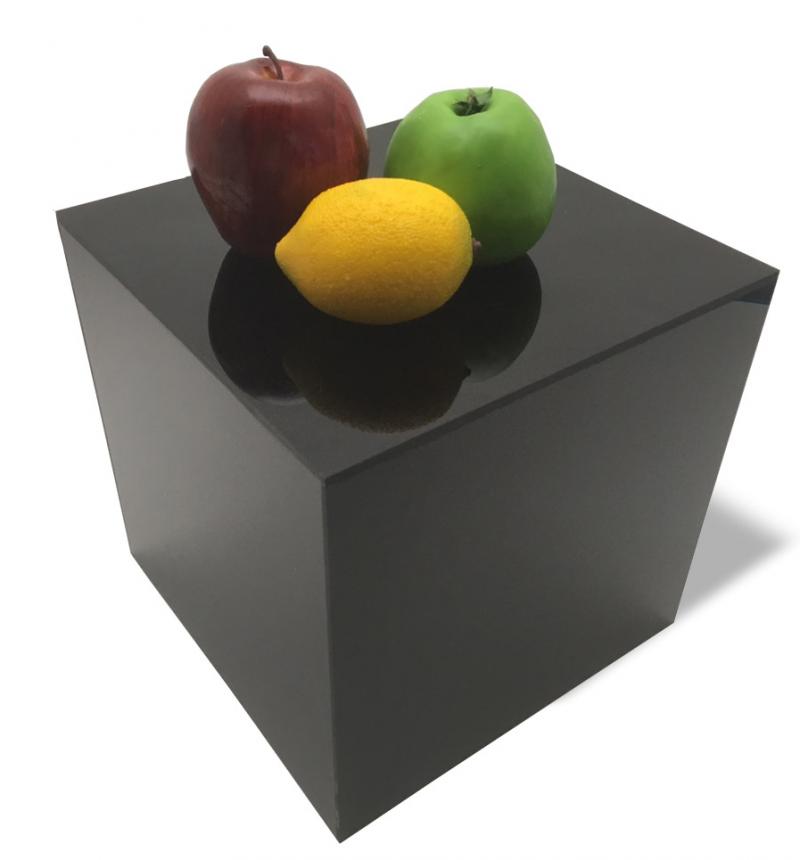 10x 10x 10 Matte Black Acrylic Box Cube Risers or Dump Bins