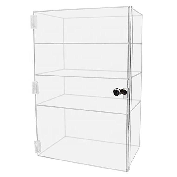 Image 1 of 8x8x16 - Acrylic Counter Showcase with Shelves
