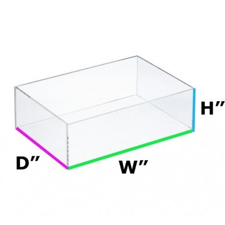 Clear Acrylic Box 16Lx12Wx7H