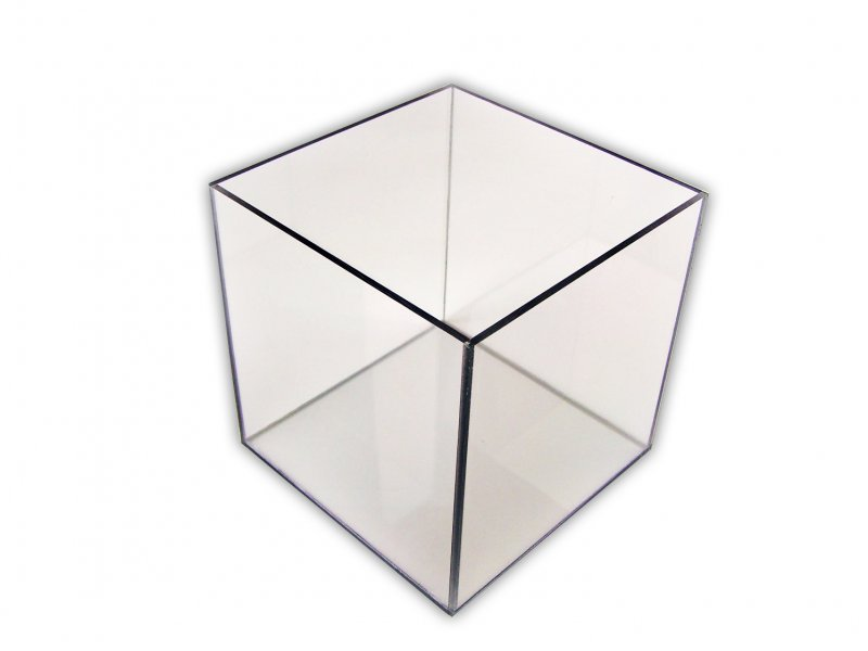 Image 0 of Custom Made Clear 4 Sided Acrylic Box 1/4