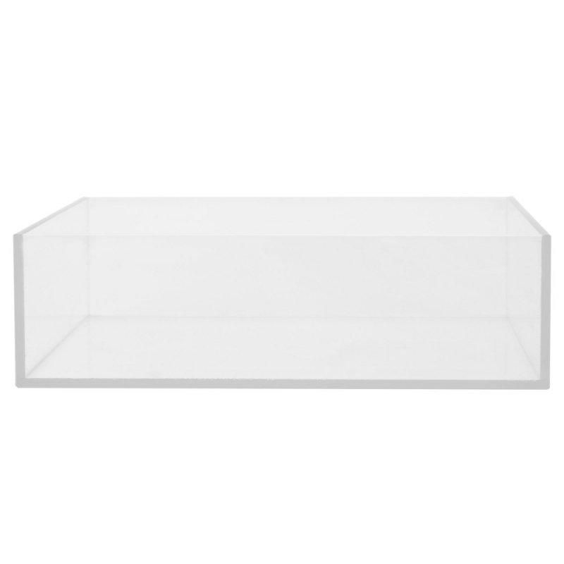 1/4  thick plexiglass 5 sided box--8W X11L X 6H