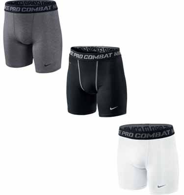 Minimal padding, can be worn as regular compression shorts, has area for packer in fly