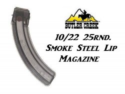BUTLER CREEK 25 Round SMOKE STEEL LIPS Mag