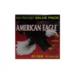Thumbnail of Federal American Eagle .40 S&W 180gr FMJ AE40R100 (500 Rounds)