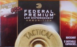 Thumbnail of Federal Tactical #1 Buckshot 2 3/4 Low-Recoil 15 Pellet 12 Gauge (5 Rounds)