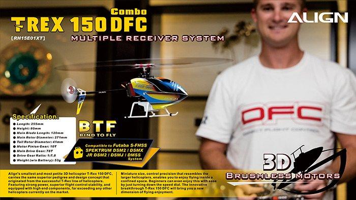 Image 1 of Align T-REX 150 DFC COMBO BTF TWIN BL MOTOR, 2S 7.4V 250MAH
