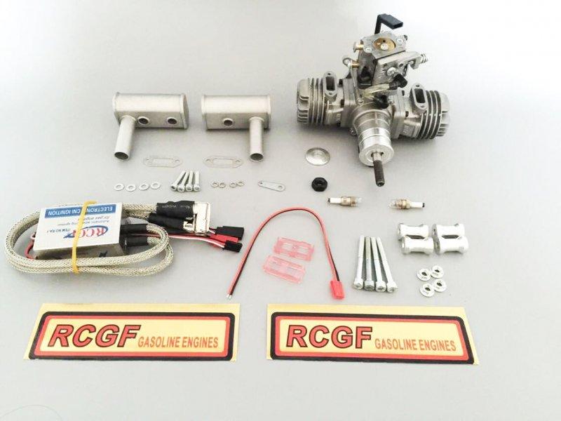 Image 0 of RCGF 21cc Twin Cylinder Gas R/C Engine