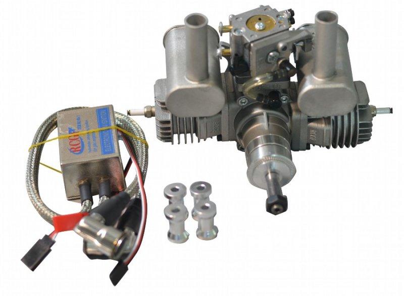 Image 8 of RCGF 21cc Twin Cylinder Gas R/C Engine