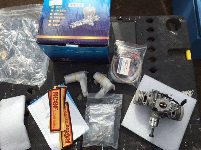 Image 6 of RCGF 21cc Twin Cylinder Gas R/C Engine