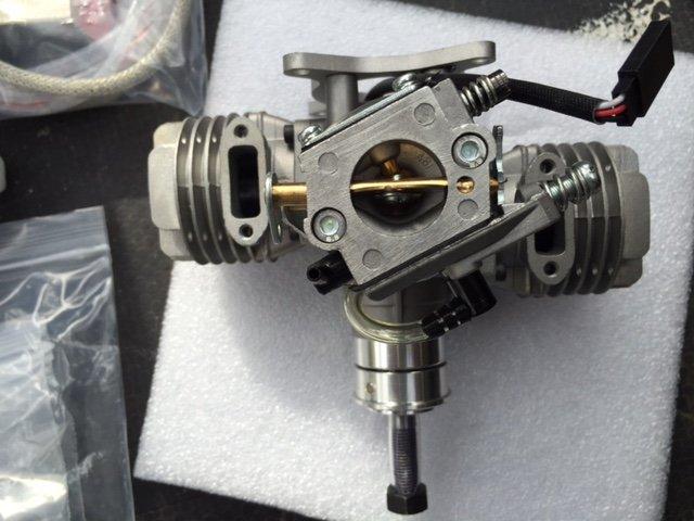 Image 3 of RCGF 21cc Twin Cylinder Gas R/C Engine
