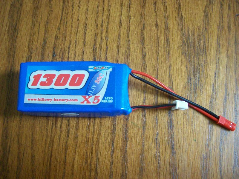 Image 0 of 1300mah 11.1volt 30c 3 cell lithium polymer