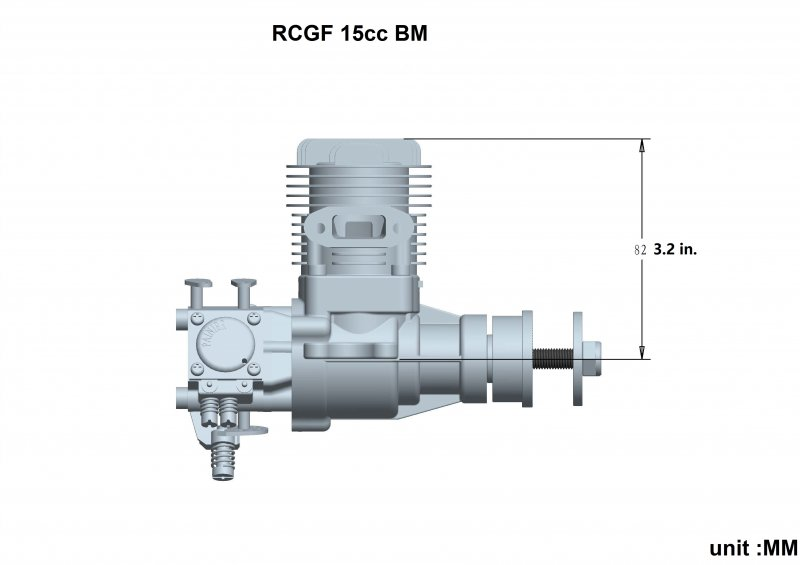 Image 10 of RCGF 15cc (SE) Gas Engine Beam Mount Version