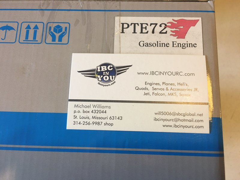 Image 1 of PTE72T 72cc 8 h.p twin cylinder RC model aircraft engine gasoline