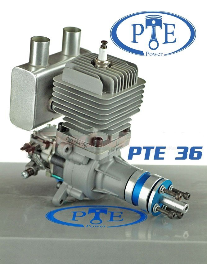 Image 0 of PTE 36R version 3 Gasoline RC model aircraft engine 4 h.p