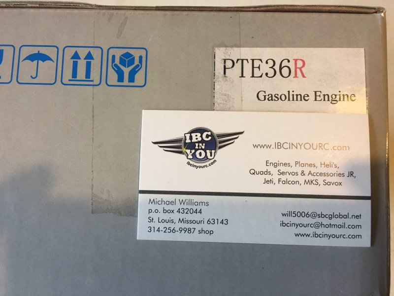 Image 2 of PTE 36R version 3 Gasoline RC model aircraft engine 4 h.p