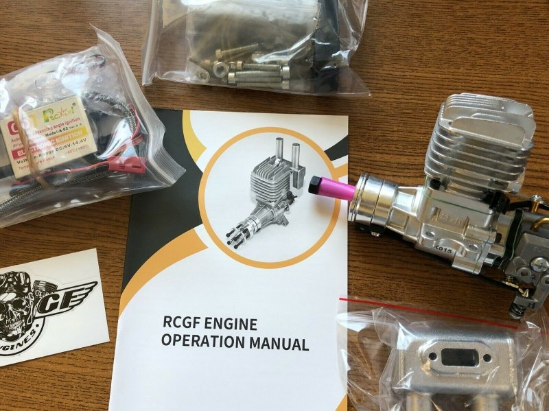 Image 0 of RCGF 10cc rear exhaust Stinger Gas Engine