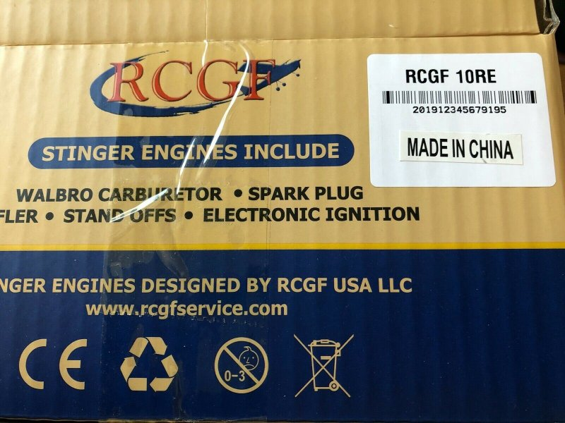 Image 5 of RCGF 10cc rear exhaust Stinger Gas Engine