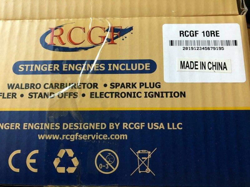 Image 5 of RCGF 10cc rear exhaust Stinger Gas Engine
