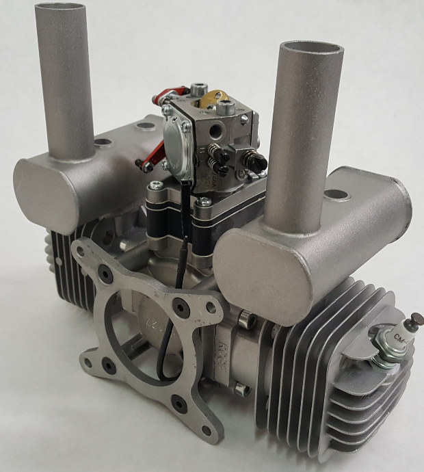 Image 12 of RCGF 70cc TWIN Gas Engine (new version w/angled plugs)