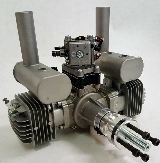 Image 11 of RCGF 70cc TWIN Gas Engine (new version w/angled plugs)