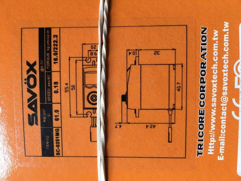Image 1 of SAVOX LOT of (6) Savox 0251MG LARGER STD DIGITAL SERVO .18/222 OPEN PKGE SPECIAL