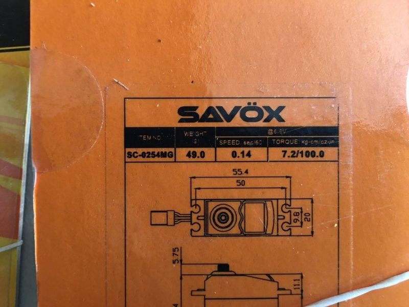 Image 1 of SAVOX LOT of (2) Savox 0254MG STD DIGITAL SERVO .14/100 OPEN PACKAGE SPECIAL