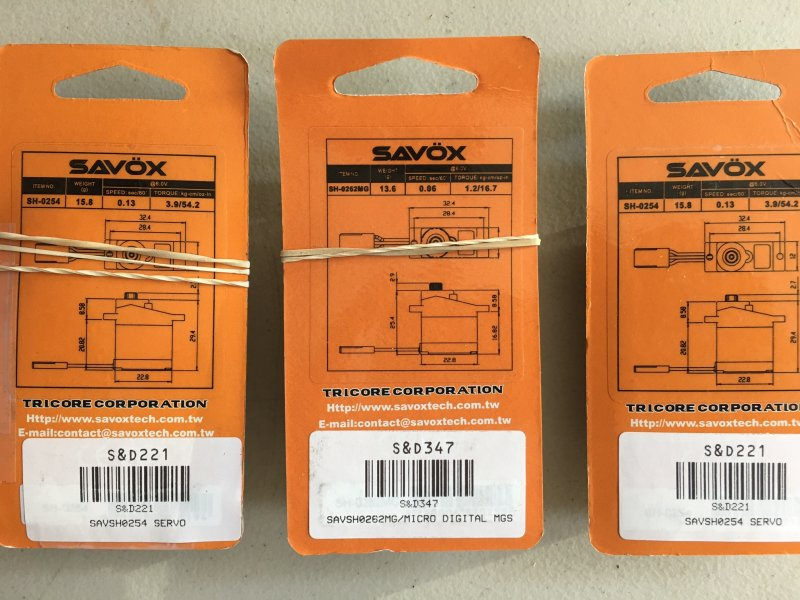 Image 1 of SAVOX LOT of (3) Savox micro digital servos OPEN PACKAGE SPECIAL