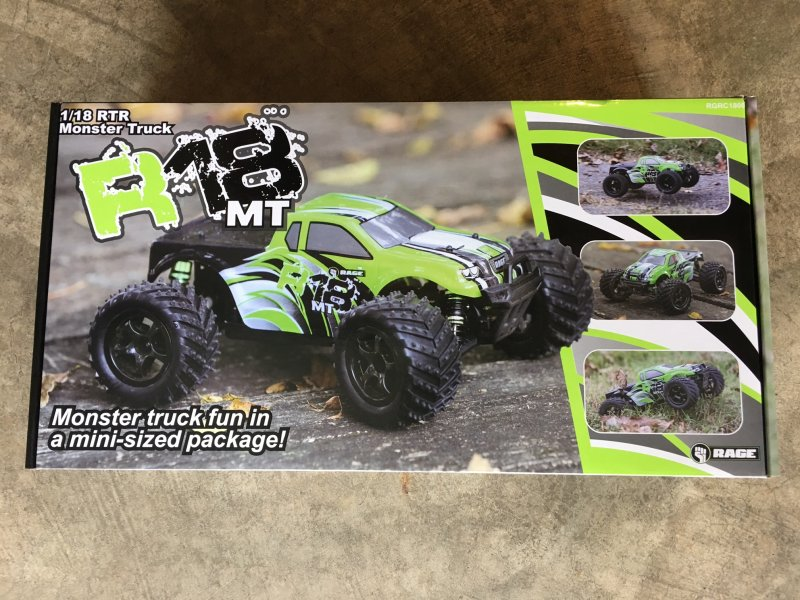 Image 4 of RAGE R18MT 1/18 Scale Monster Truck RTR