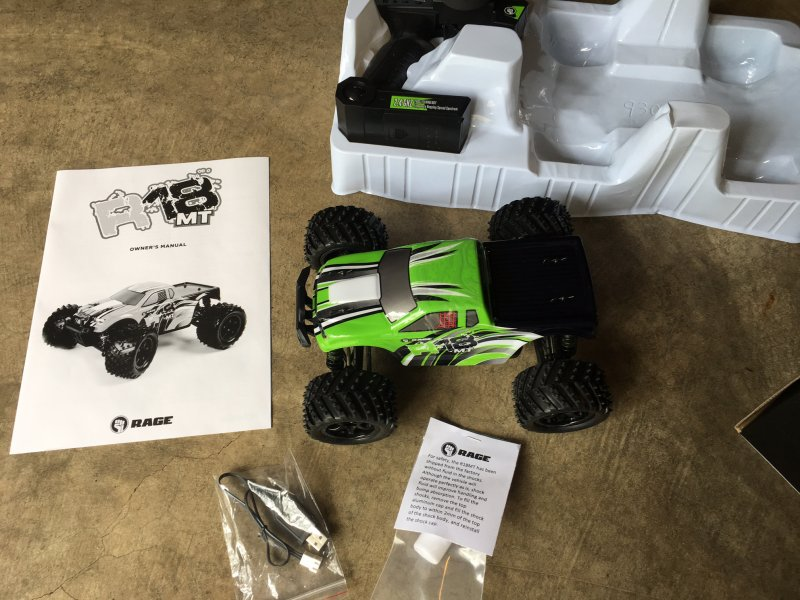 Image 7 of RAGE R18MT 1/18 Scale Monster Truck RTR