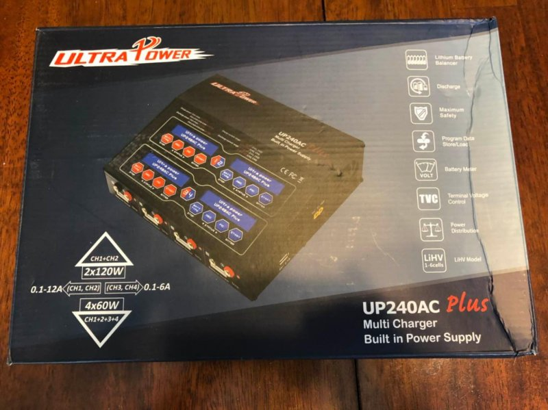 Image 0 of Ultra Power UP240 AC PLUS 240W 4-PORT Multi-Chemistry AC/DC Charger