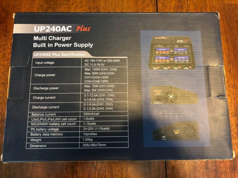 Image 1 of Ultra Power UP240 AC PLUS 240W 4-PORT Multi-Chemistry AC/DC Charger
