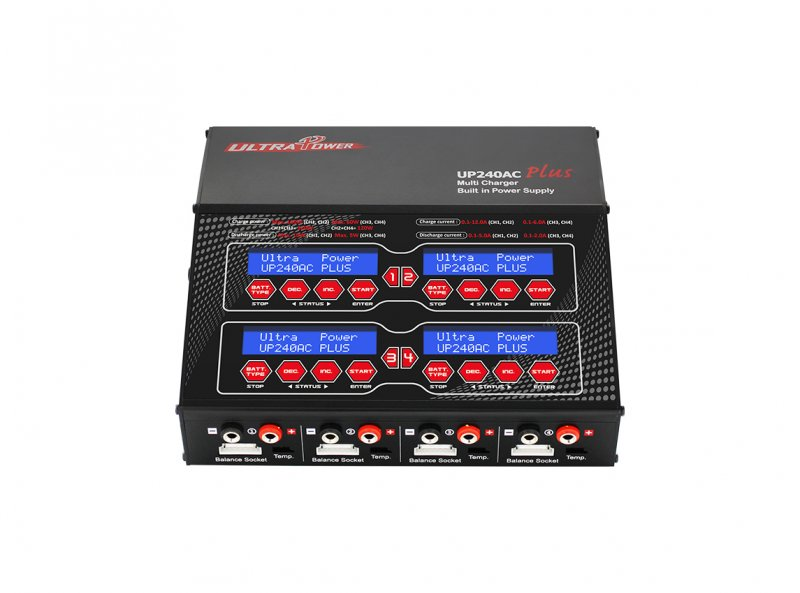 Image 2 of Ultra Power UP240 AC PLUS 240W 4-PORT Multi-Chemistry AC/DC Charger