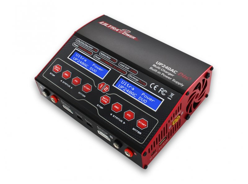 Image 3 of Ultra Power UP240 AC DUO 240 W Dual Port Multi-Chemistry AC/DC Charger