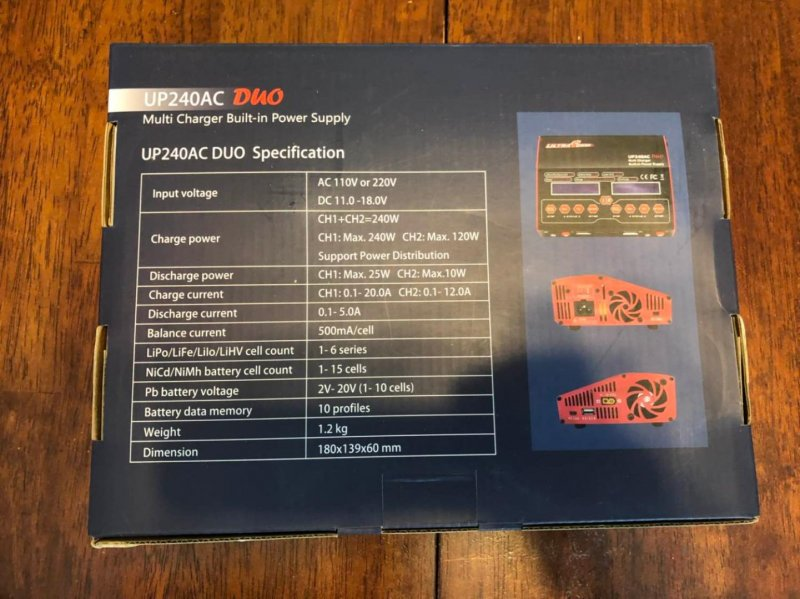 Image 1 of Ultra Power UP240 AC DUO 240 W Dual Port Multi-Chemistry AC/DC Charger
