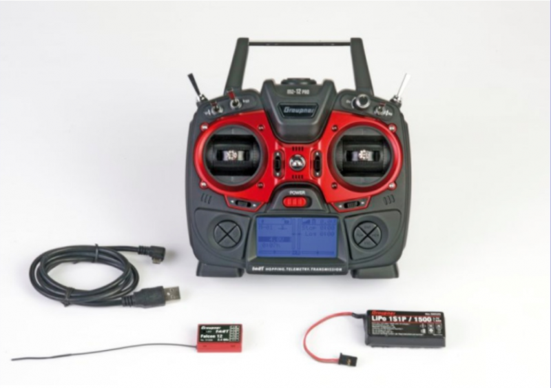 Image 0 of Graupner mz-12 PRO 12 Channel 2.4GHz HoTT Transmitter with Falcon 12 Receiver