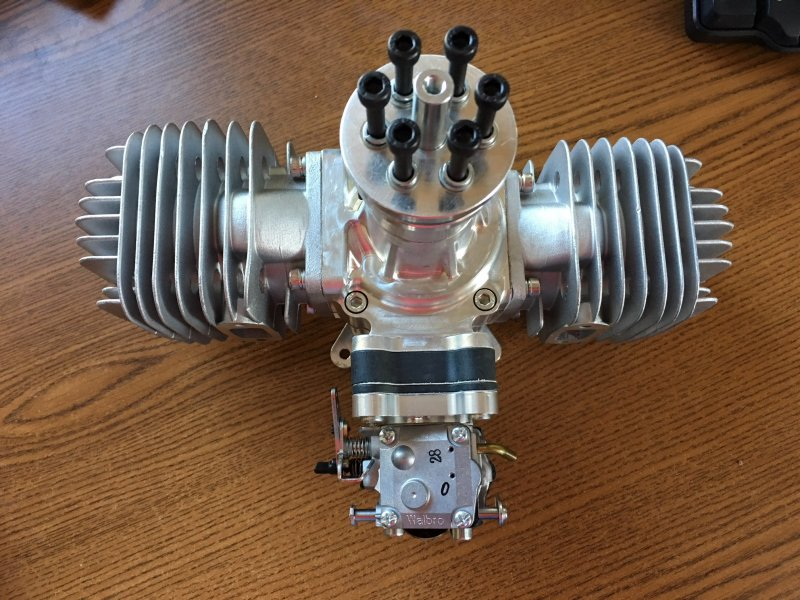 Image 3 of RCGF 120CC TWIN Cylinder Gas Engine version 4