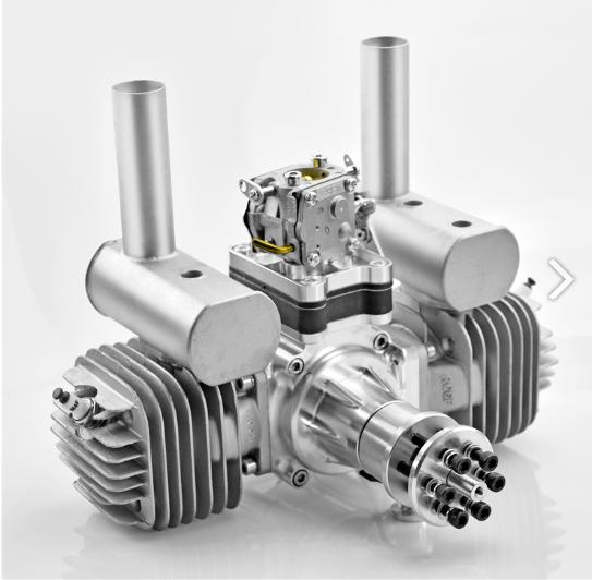 Image 1 of RCGF 120CC TWIN Cylinder Gas Engine version 4