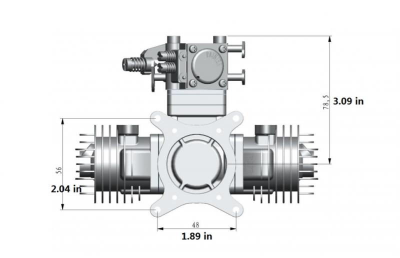 Image 10 of RCGF 21cc Twin Cylinder Gas R/C Engine