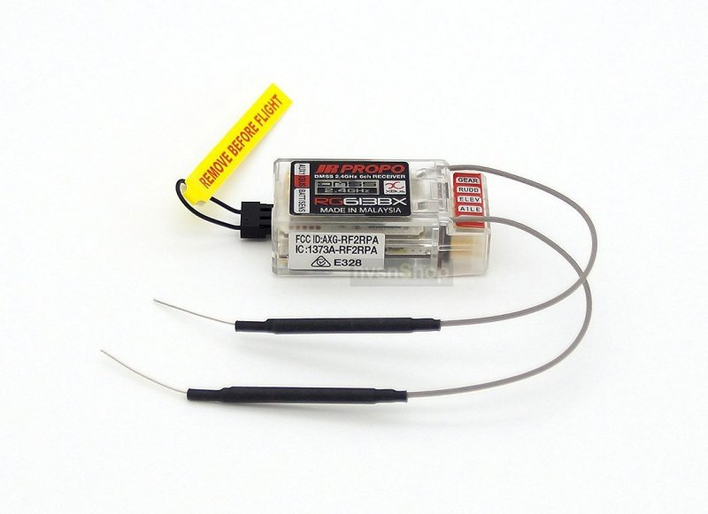 Image 1 of JR RG613BX-A 6CH 2.4GHZ DMSS XBUS RECEIVER