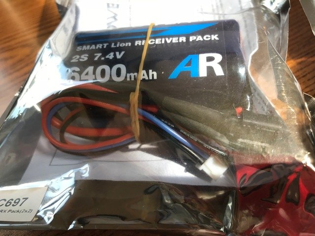Image 1 of Booma RC Square 6400 mA Self Balancing Li Ion MAXPACK receiver battery w/ safet