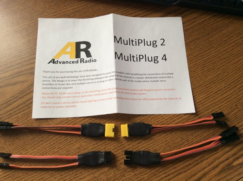 Image 0 of Booma RC MultiPlug-2 Connect 2 servos with one plug MULTIPLUG-2 2 SETS
