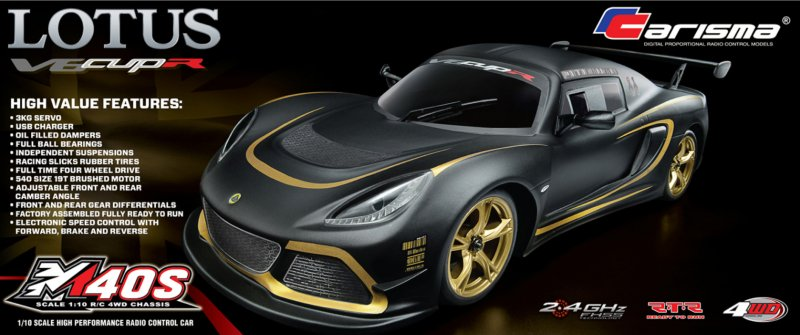Image 0 of Carisma M40S 1/10 4WD Lotus Exige V6 Cup R RTR
