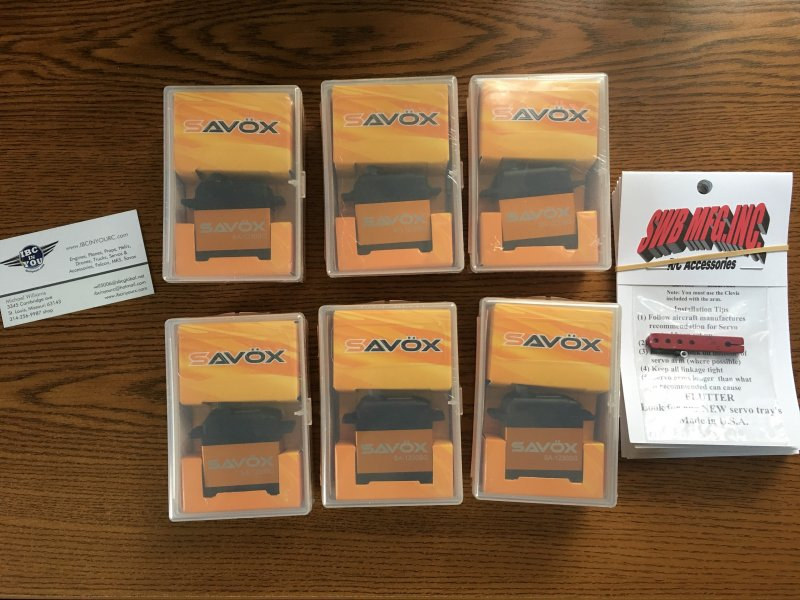Image 0 of LOT of 6 Savox SA-1230SG Monster Torque Steel Gear Digital Servos, FREE SWB arms