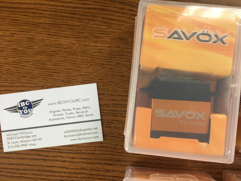 Image 2 of LOT of 6 Savox SA-1230SG Monster Torque Steel Gear Digital Servos, FREE SWB arms