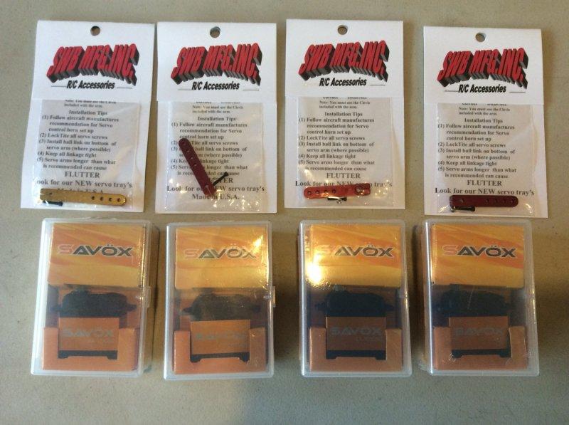 Image 0 of Lot of (4) SAVOX 1230SG with (4) SWB arms NIB PLUS more free stuff