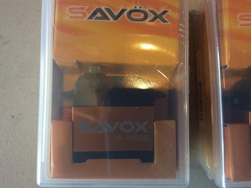Image 1 of Lot of (4) SAVOX 1230SG with (4) SWB arms NIB PLUS more free stuff